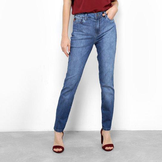8ee16f9db Calça Jeans Skinny Ellus Elastano Higher Etiqueta Couro Cintura Média  Feminina - Azul