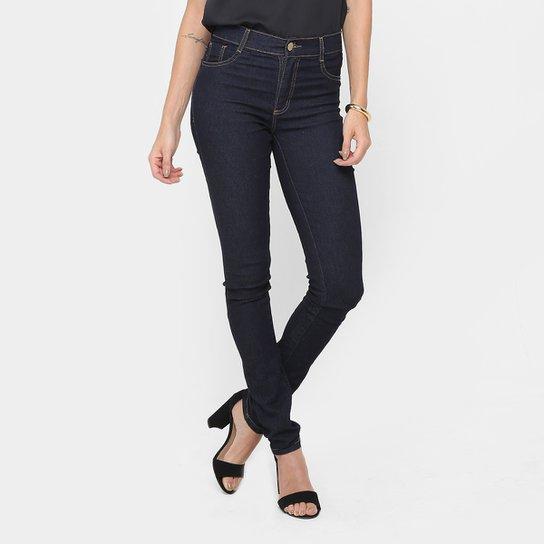 0d568008d Calça Jeans Skinny Sawary Cintura Alta Lavagem Escura - Compre Agora ...