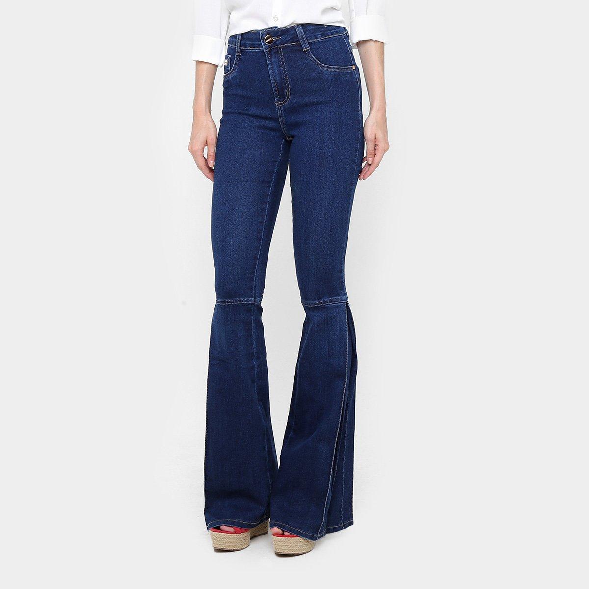 c1dbb41ab Calça Jeans Flare Sawary Recorte Cintura Alta Feminina | Livelo -Sua ...