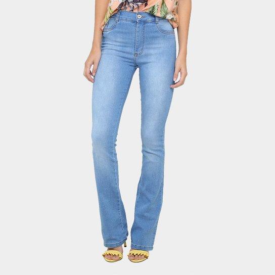 422d58a8e Calça Jeans Flare Sawary Lavagem Clara Cintura Alta Feminina | Zattini
