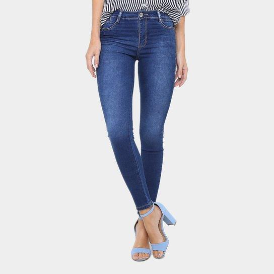 3b1bb1b2e Calça Jeans Skinny Sawary Lavagem Escura Cintura Alta Feminina - Jeans