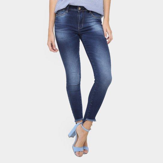 76ca1e8ed Calça Jeans Skinny Sawary Barra Assimétrica Cintura Média Feminina - Jeans