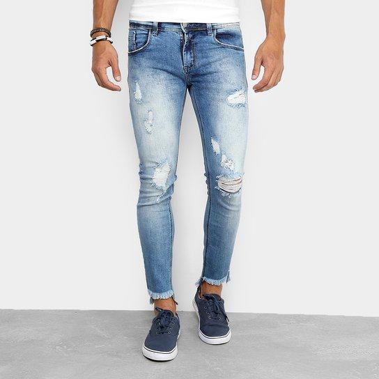d7632b2ef Calça Jeans Super Skinny Sawary Rasgada Masculina | Zattini