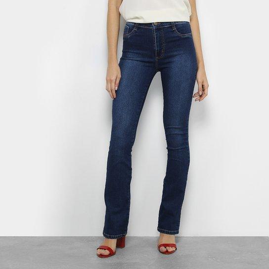 873a967c18 Calça Jeans Flare Sawary Estonada Cintura Média Feminina | Zattini