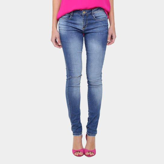 9d98297456 Calça Jeans Skinny Lança Perfume Rasgada Cintura Média Feminina - Jeans