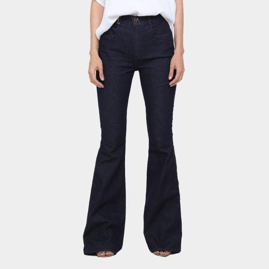 c096e0572 Calça Jeans Flare Lança Perfume Cintura Alta Escura Feminina | Zattini