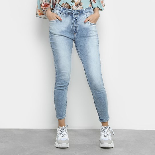 c653b3915 Calça Jeans Skinny Lança Perfume Estonada Cintura Média Feminina - Azul  Claro