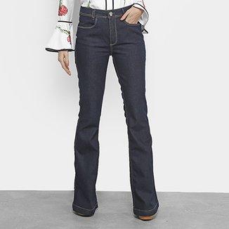 Calça Jeans Flare Lança Perfume Lisa Feminina 01409726e85