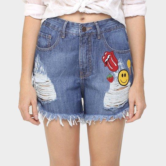 635e25bdae Short Jeans 284 Rasgado Patches - Compre Agora