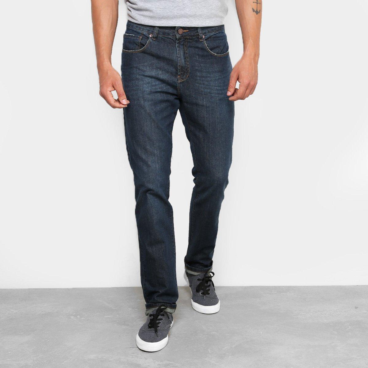 728c4c3a0 Calça Jeans Slim Foxton Escura Masculina