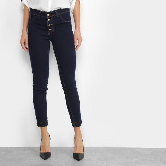 340996db7 Calça Jeans Skinny Coffee com Botão Feminina - Compre Agora