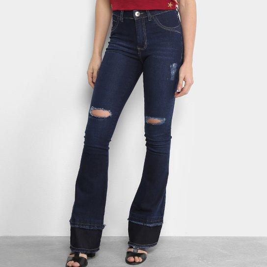 bc38d77f279ac Calça Jeans Flare Coffee Cintura Média Feminina - Compre Agora