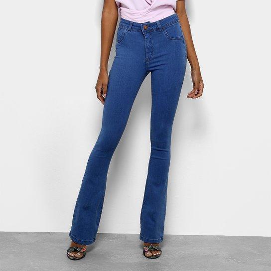 Calça Jeans Flare Coffee Cintura Alta Feminina - Compre Agora   Zattini 1ec0e8b2ac