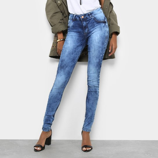 2cae1797c Calça Jeans Skinny Coffee Marmorizada Cintura Alta Feminina | Zattini