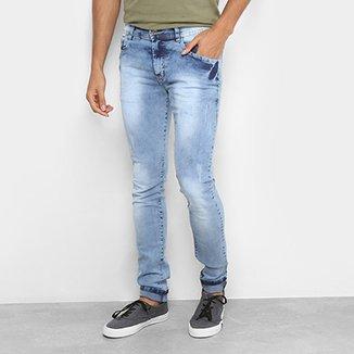 Calça Jeans Slim Coffee Slim Lavagem Clara Masculina 87cc4e903f525