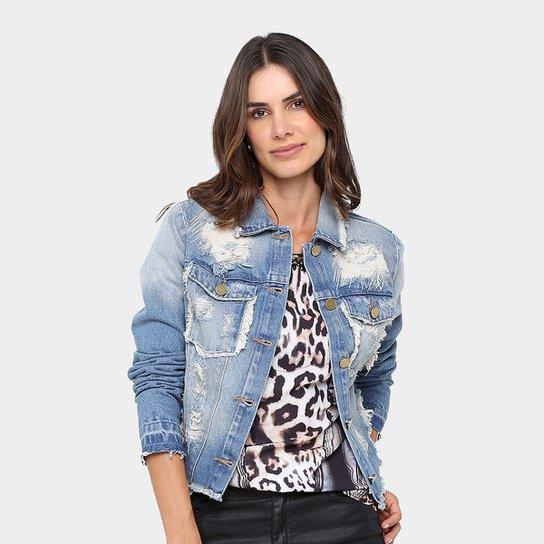 d48f797721 Jaqueta Jeans Dimy Puídos Feminina - Jeans
