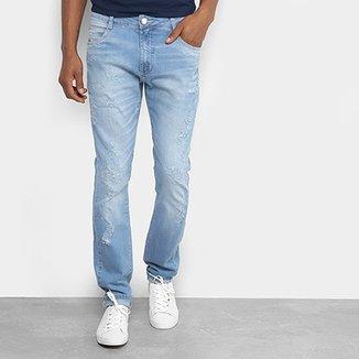 4f6c7ef49 Calça Jeans Skinny Dimy com Puídos Masculina