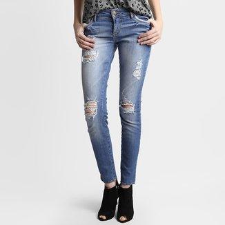 860faddaa Calça Jeans Sommer Juli Destroyed