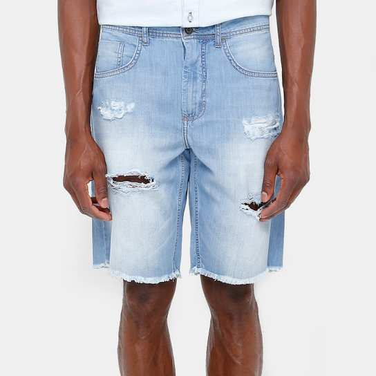749515f727 Bermuda Jeans Sommer Stone Rasgos Desfiado Barra Masculina - Compre ...