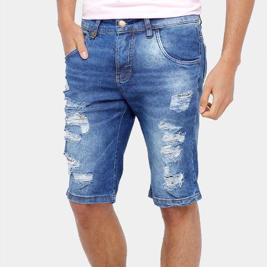 d632a98449 Bermuda Jeans Rock   Soda Stone Rasgada Masculina - Compre Agora ...