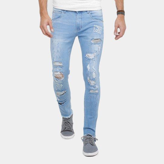 Calça Jeans Skinny Rock   Soda Rasgada Masculina - Compre Agora ... 851499f3cab5c