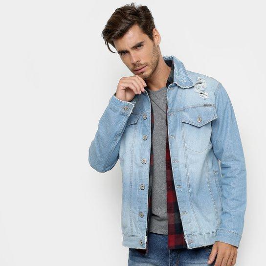 d0f7ff925 Jaqueta Jeans Rock   Soda Estonada Destroyed Masculina - Compre ...