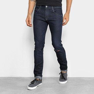 5e87c6114 Calça Jeans Rock   Soda Skinny Rasgada Masculina