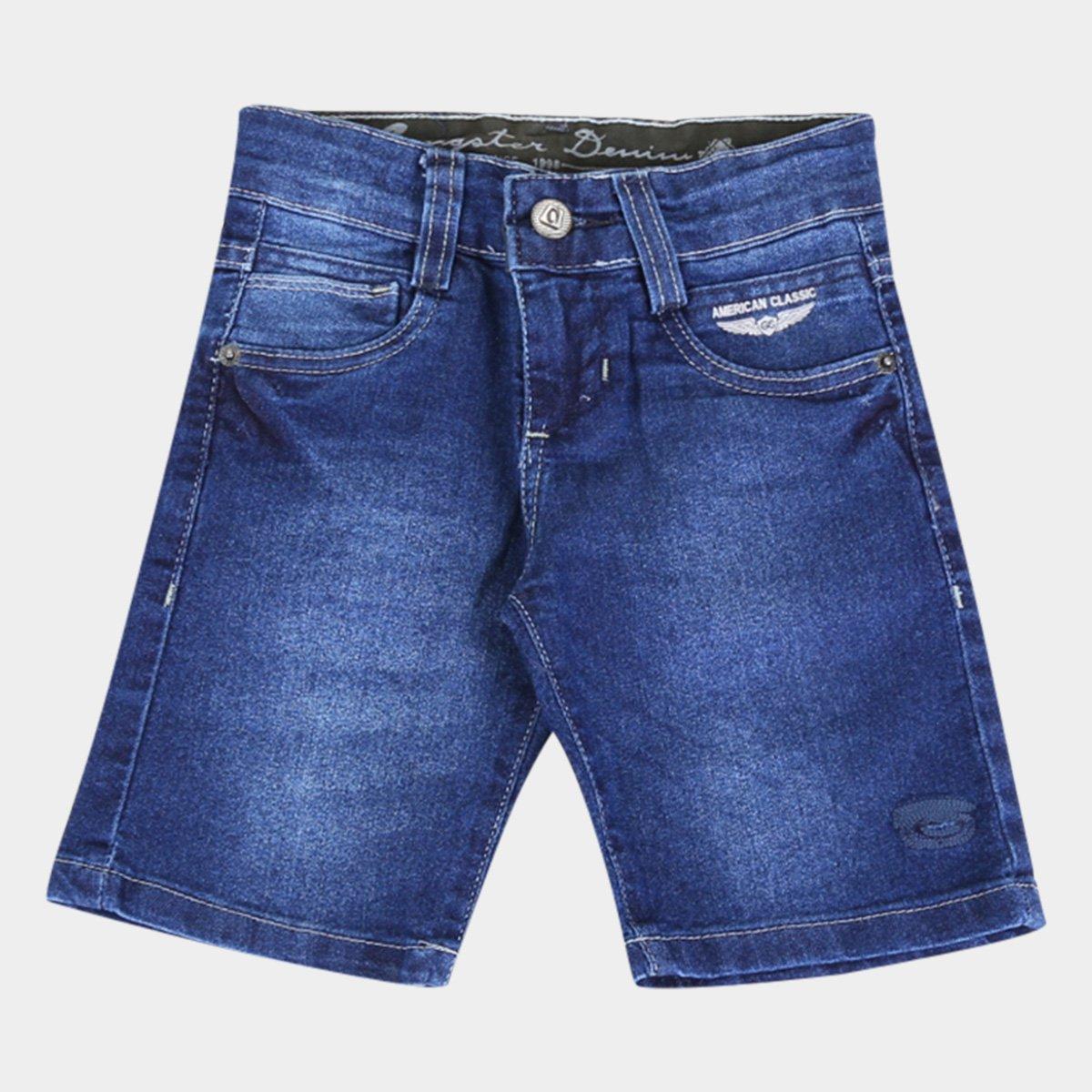 Bermuda Jeans Infantil Gansgter Estonada Masculina