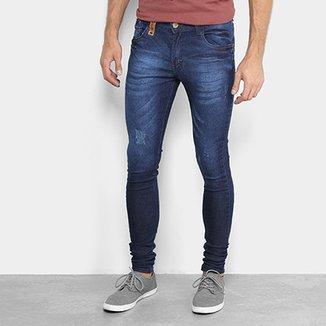 Calça Jeans Skinny Fatal Estonada Masculina d76b5d2210f