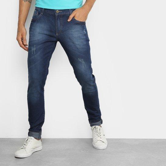0dca133b9 Calça Jeans Skinny Fatal Estonada Masculina - Azul - Compre Agora ...