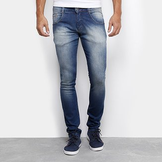 1c25a1609b Calça Jeans Skinny Biotipo Stone Puídos Masculina
