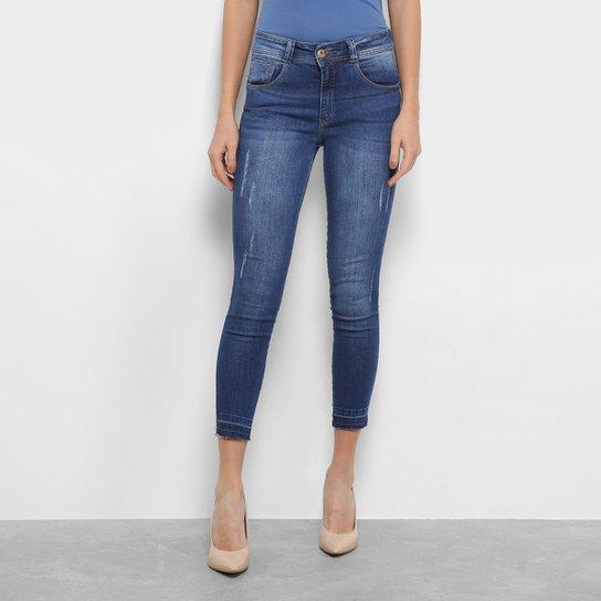 3339b5566 Calça Jeans Cigarrete Biotipo Skinny Estonada Cintura Média Feminina - Jeans