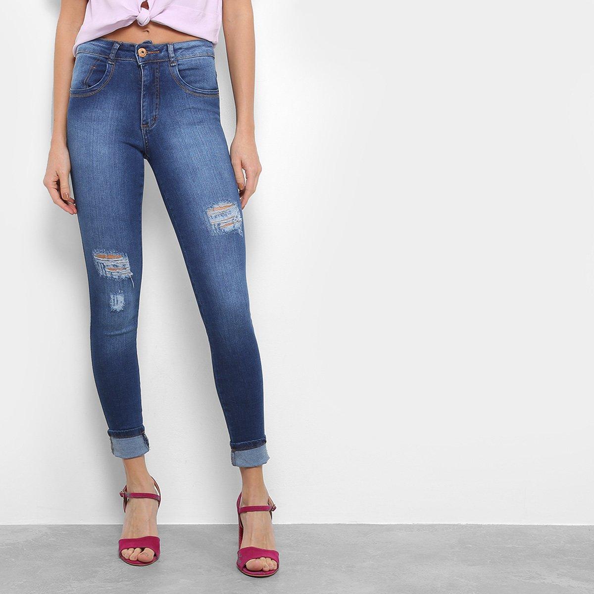 7a59147d7 Calça Jeans Skinny Biotipo Rasgos Cintura Média Feminina | Livelo ...