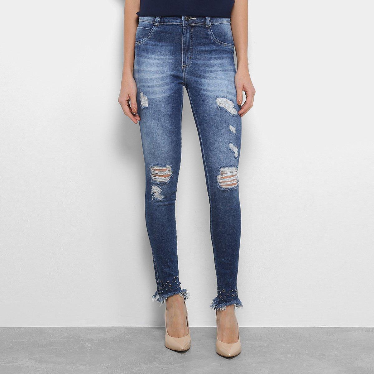 de3d98dbf Calça Jeans Skinny Biotipo Cintura Média Feminina