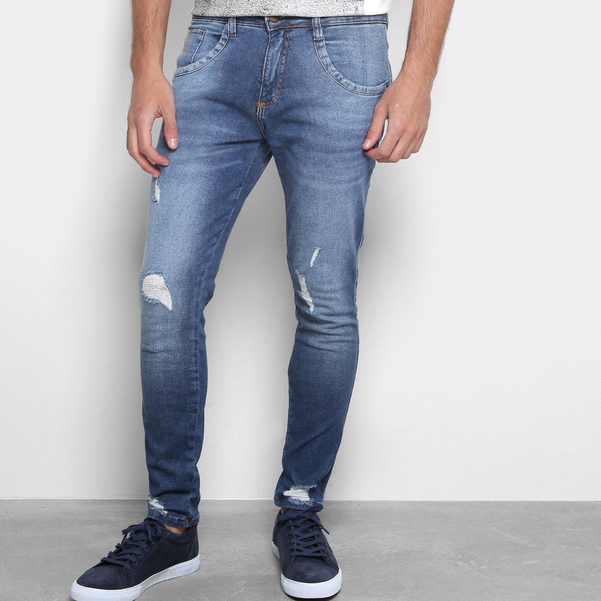 b0359a571f Calça Jeans Skinny Biotipo Rasgos Masculina