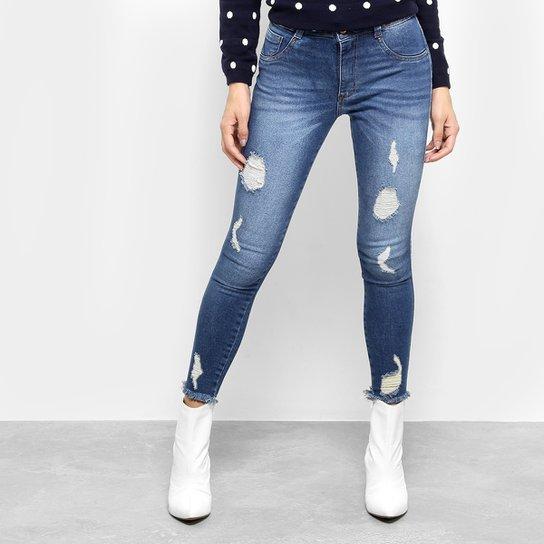 Calça Jeans Skinny Biotipo Cintura Média Feminina - Compre Agora ... f2daeb61754