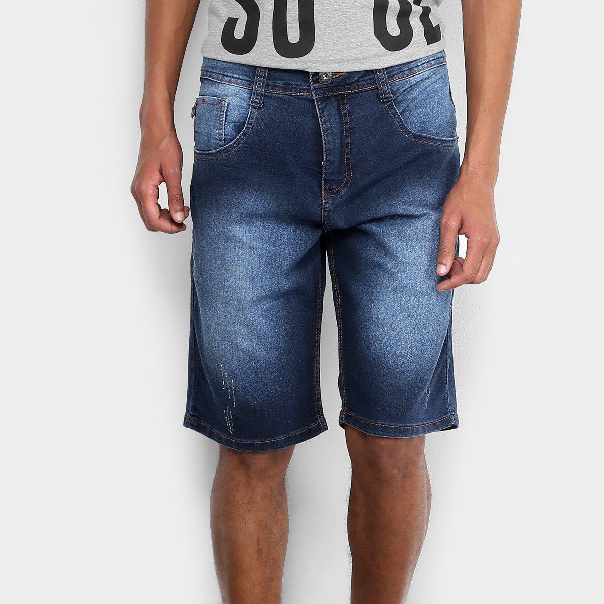 Bermuda Jeans Biotipo Elastano Escura Masculina 159b411593834