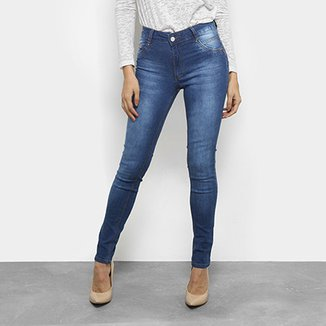 268f37a9e Calça Jeans Skinny Biotipo Estonada Cintura Média Feminina