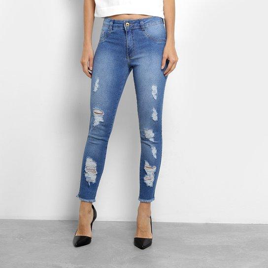 41d9f9324 Calça Jeans Skinny Biotipo Cintura Média Feminina - Azul | Zattini