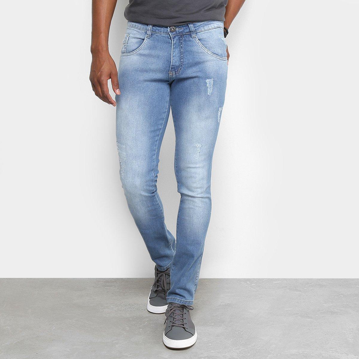 d2b229a32 Calça Jeans Skinny Biotipo Puídos Cintura Média Masculina   Livelo ...