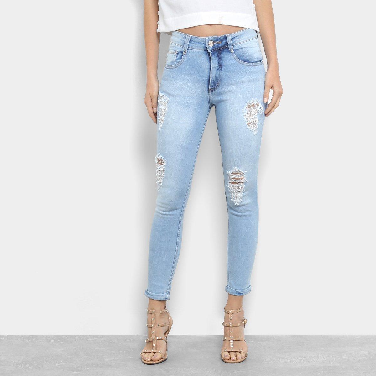 Calça Jeans Skinny Biotipo Cintura Média Feminina cfa2111451f