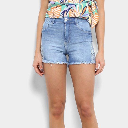 9c5b6f87d Short Jeans Biotipo Hot Pants Bordado Feminino   Zattini