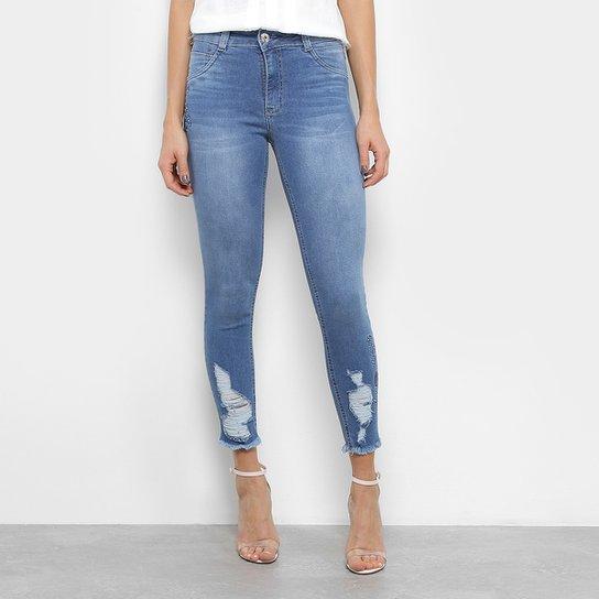 ad0ccc4a9 Calça Jeans Skinny Biotipo Destroyed Feminina - Jeans | Zattini