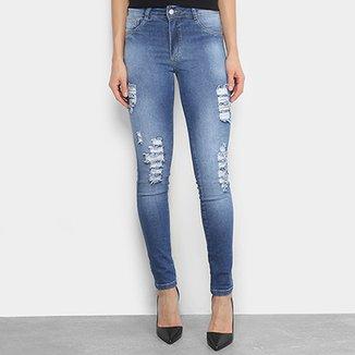 Calça Jeans Skinny Biotipo Estonada Cintura Alta Feminina 9545130ee93