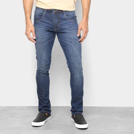 8e29e6d790 Calça Jeans Skinny Biotipo Estonada Cintura Baixa Masculina - Azul ...