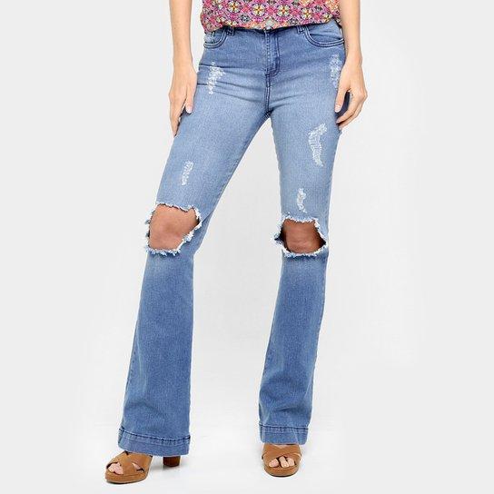 dcbc1ff787 Calça Jeans Handbook Flare Rasgada - Compre Agora