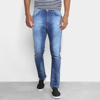 6fa4ba88a Calça Jeans Slim Handbook Lopes Masculina