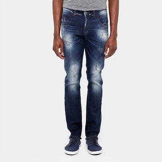 c422001d2 Calça Jeans Skinny Zune Desfiada Respingos Masculina