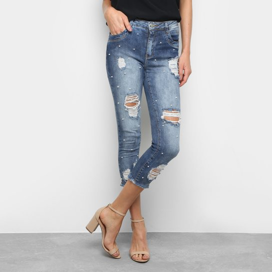 14803021c Calça Jeans Cigarrete Zune Sabrina Sato Cintura Média Feminina - Jeans