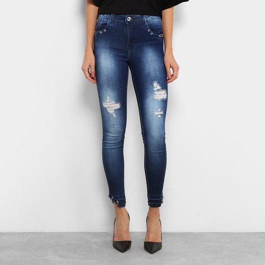 214738e69 Calça Jeans Skinny Zune Destroyed Sabrina Sato Feminina - Jeans
